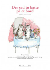 Der sad to katte på et bord
