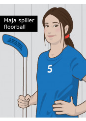 Maja spiller floorball