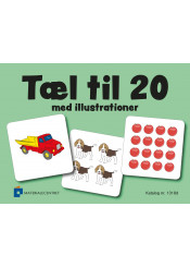 Tæl til 20 med illustrationer (vendespil)
